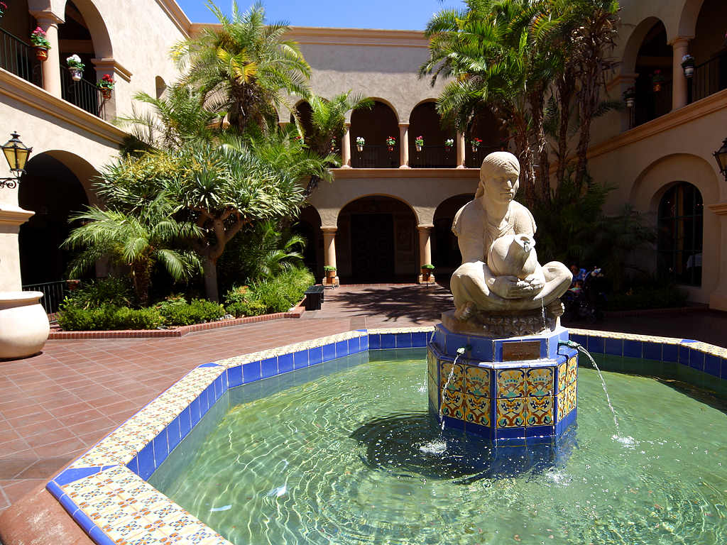 Courtyard Fountain at a Hospitality Center