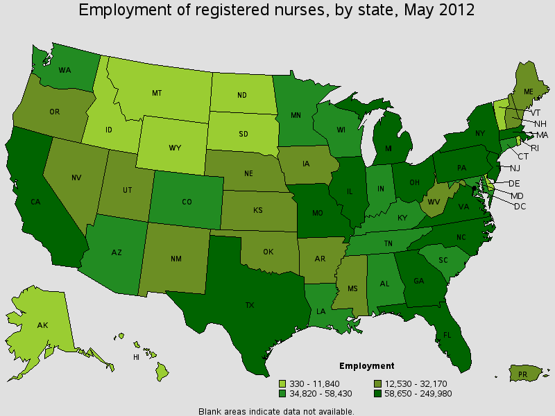 Nurse Employment Statistics by State